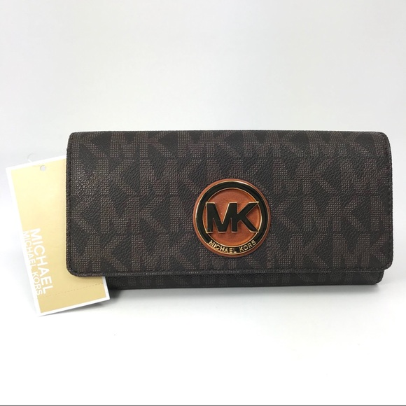 315ddebdbc8a Michael Kors Bags | Nwt Fulton Brown Logo Carryall Wallet | Poshmark
